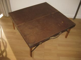 Vintage Gold Medal Folding Furniture Co.  Racine,  Wi Portable Wood Table Usa photo