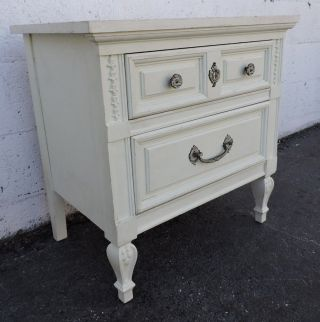 French Painted Nightstand Side End Table By Dixie 8199 photo