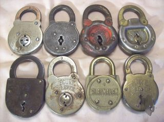 1900s Antique Locks 6 Lever Reese Secure Marswells Edwards Power Mwco.  Slaymaker photo