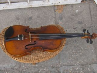 Rare Antique 3/4 German Stradivarius Copy Violin,  Marked 1900 - 1920 photo