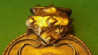 Magnificent Ancient Solid Gold Shield Pendant photo
