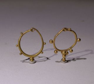 Ancient Roman Gold Earrings - Circa 1st Ad - photo