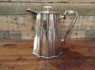 Pretty Antique Victorian Silver Plate Hot Water Or Wine Jug Engraved R&b photo
