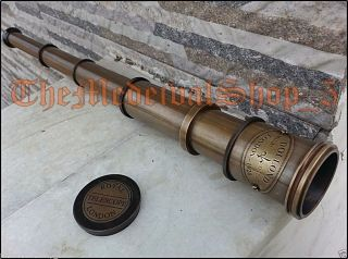 Nautical Maritime Telescope Marine Antique Brass Pirate Spyglass Vintage Scope photo