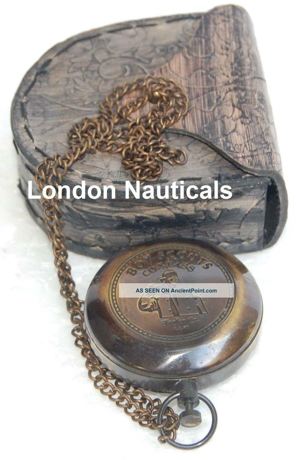 Antique Nautical Compass Vintage Compass Push Button Compass Brass Compass Gift Compasses photo