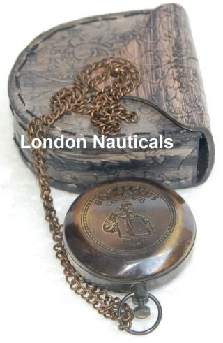 Antique Nautical Compass Vintage Compass Push Button Compass Brass Compass Gift photo