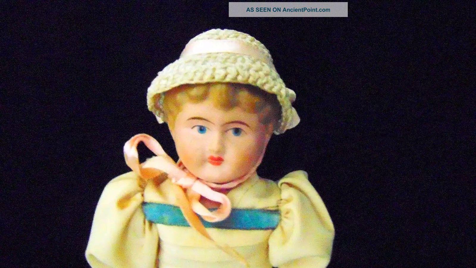 Antique Shoulder Head Doll German Fancy Clothing 11