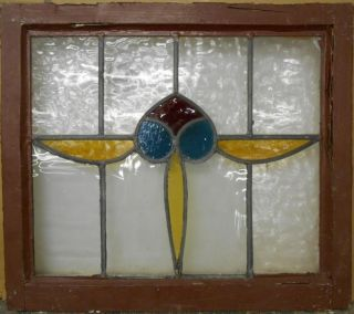 Old English Leaded Stained Glass Window Abstract 21.  75