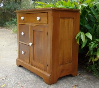 Pine Cottage Cabinet Cupboard Side Hall Table Vanity Office Kitchen Hall Storage photo