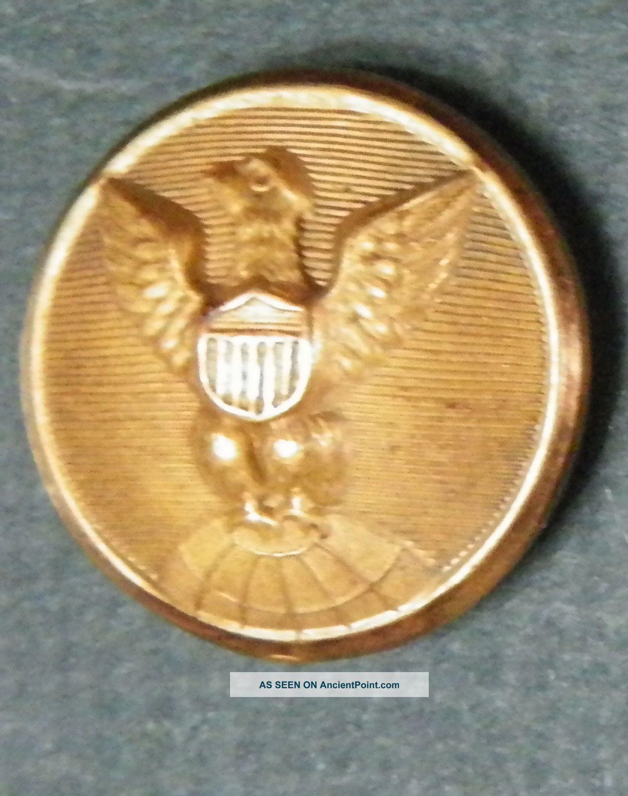 Bb Coast Geodetic Survey Uniform Button Medium 21.  5mm.  Gilt Albert Fd 57 Buttons photo