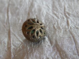 Antique Brass Button Cricket Cage 126 - B photo
