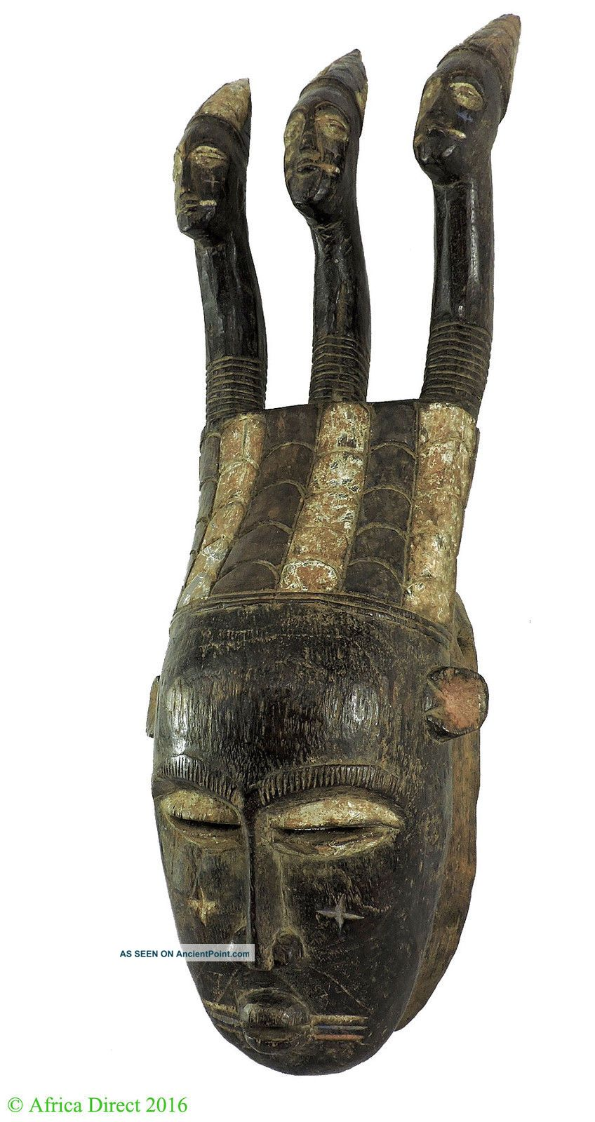 Djimini Three Headed Mask Do Society Ghana African Art Was $375 Masks photo