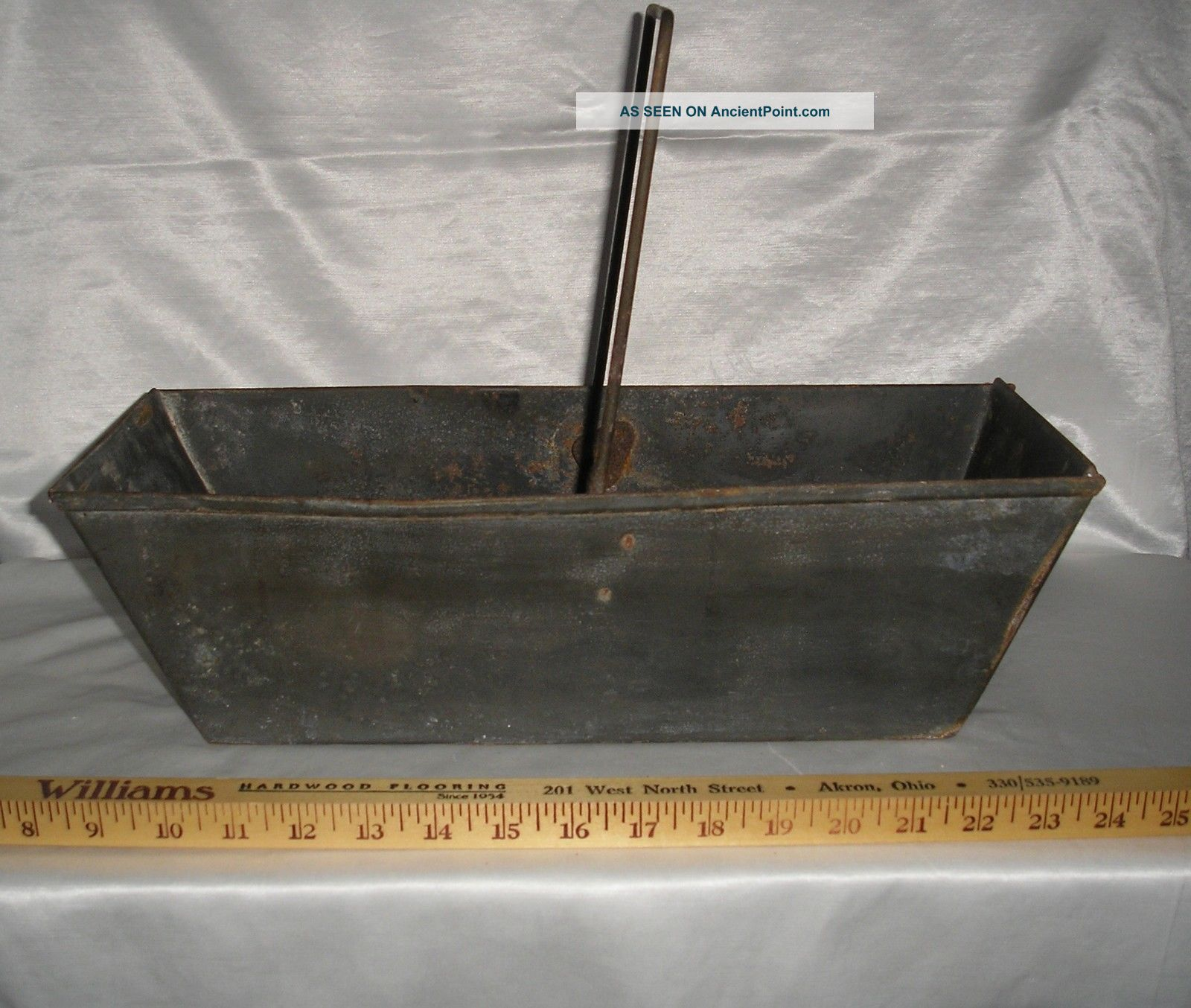 Vtg 1948 Ashes Drawer Bin Hod From A Pittston Coal Stove,  Galvanized (?) Metal Stoves photo