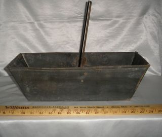 Vtg 1948 Ashes Drawer Bin Hod From A Pittston Coal Stove,  Galvanized (?) Metal photo