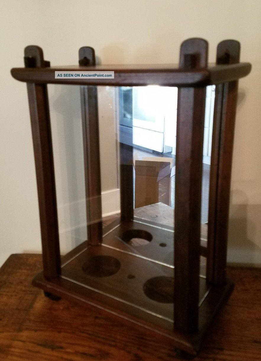 Antique Arts & Crafts Stickley Era Mission Display Case Pierced Tenons Arts & Crafts Movement photo