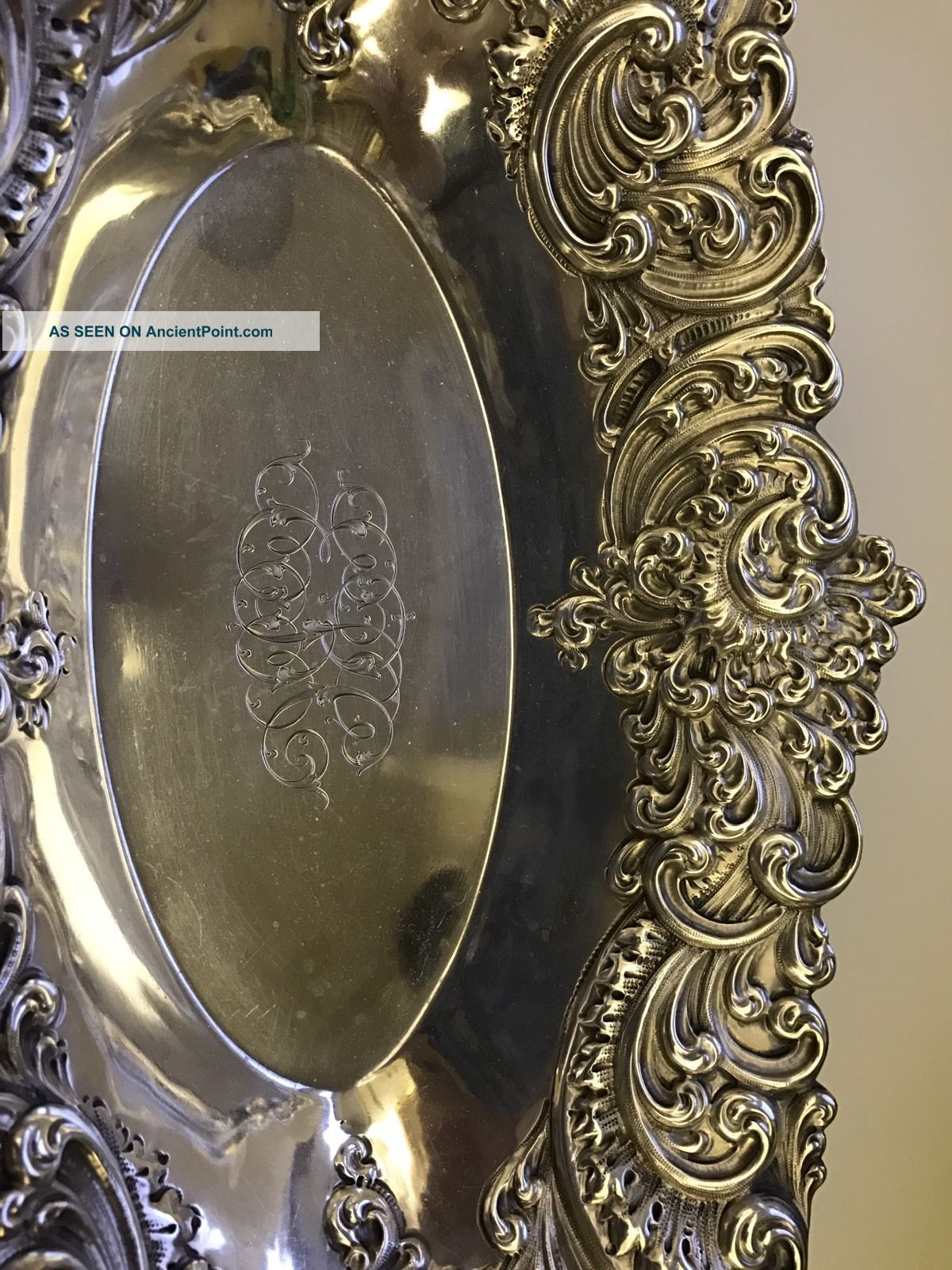 Gorham Sterling Bread Tray Platters & Trays photo