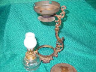 Antique Vapo Cresolene Oil Lamp Mineature Vaporizer,  Dated 1888,  All Orig.  Excond photo
