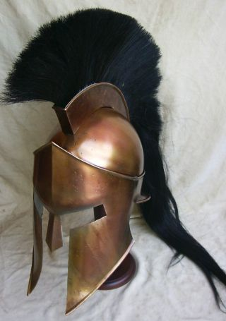 Spartan King Leonidas 300 Movie Helmet Replica For Larp Role Plays Cosplays Pro photo
