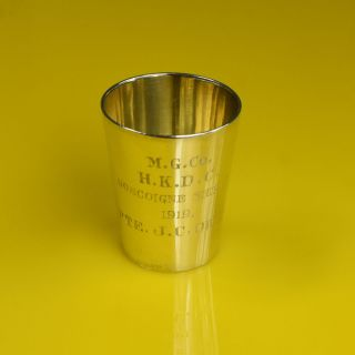 Chinese Export Sterling Silver Shot Glass Cup By Wang Hing Of China,  Wh 90 photo