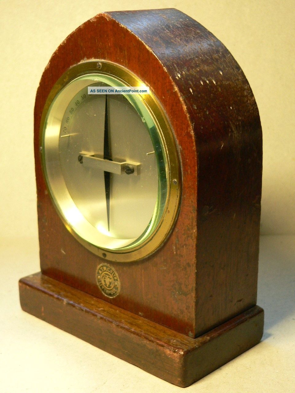 A Brass Bound,  Telegraph Galvanometer By The A.  T.  M.  Co.  Ltd.  Liverpool Other Antique Science Equip photo