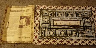 Tapa Cloth Museum Quality Tapa Cloth Very Very Old Tapa Clothmade In Fiji 18x12