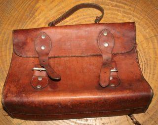 Levi ' S Big E 50 ' S Bag Handle Leather Folder Made In Usa Vintage Retro photo