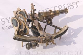 Maritime Collectible Nautical Brass German Sextant 9
