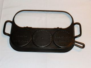 Antique Stuart Peterson & Co Cast Iron Flip Top Griddle No.  2 - 1867/1869 photo