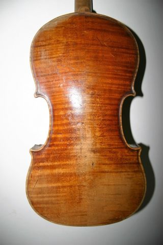 Old Antique Well Played Unlabeled Possibly Italian? Violin Repair Great Project photo