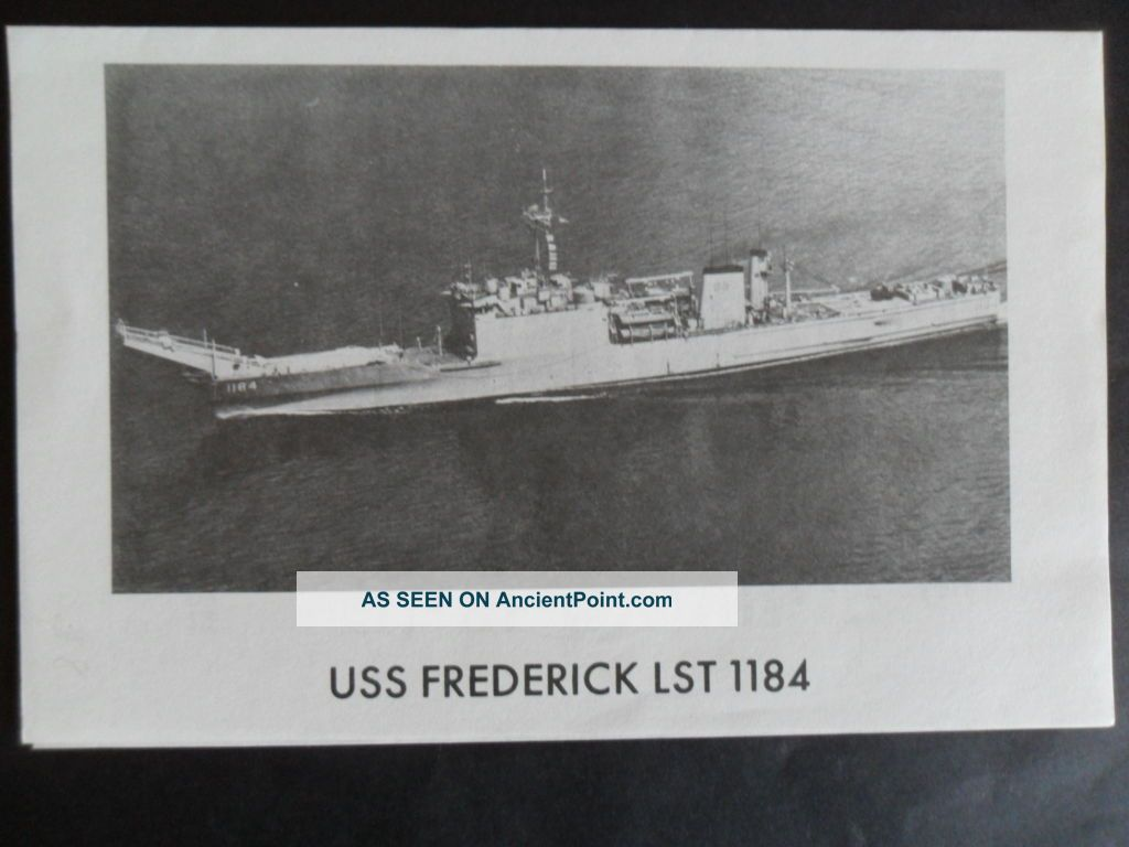 Naval / Us Navy Uss Frederick (lst - 1184) Welcome Aboard 1970 ' S Other Maritime Antiques photo
