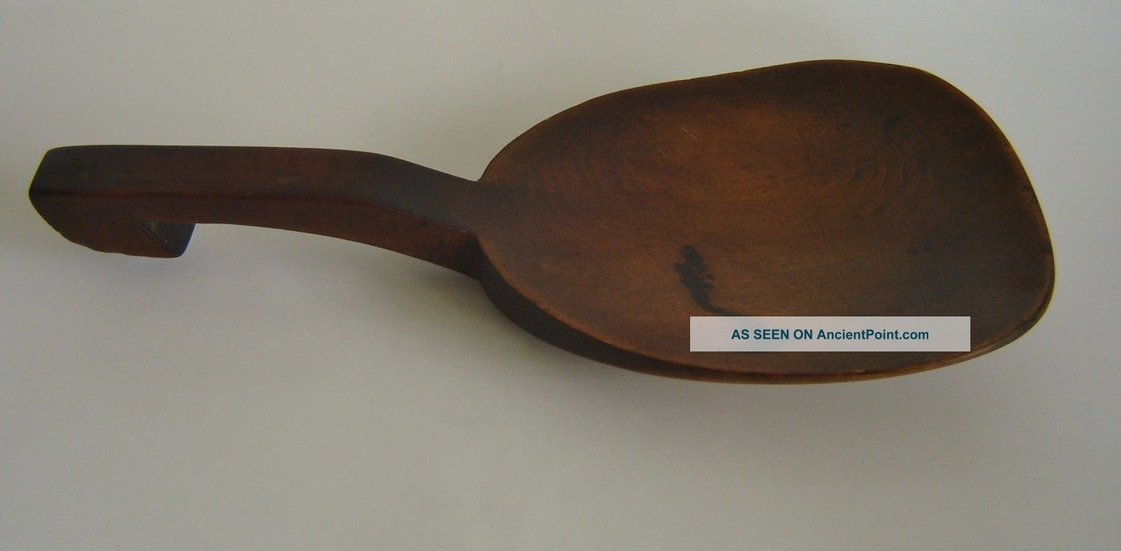 Scoop Butter Paddle Carved Wood Primitive Treen Spoon Antique 1700s? 1800s? Primitives photo