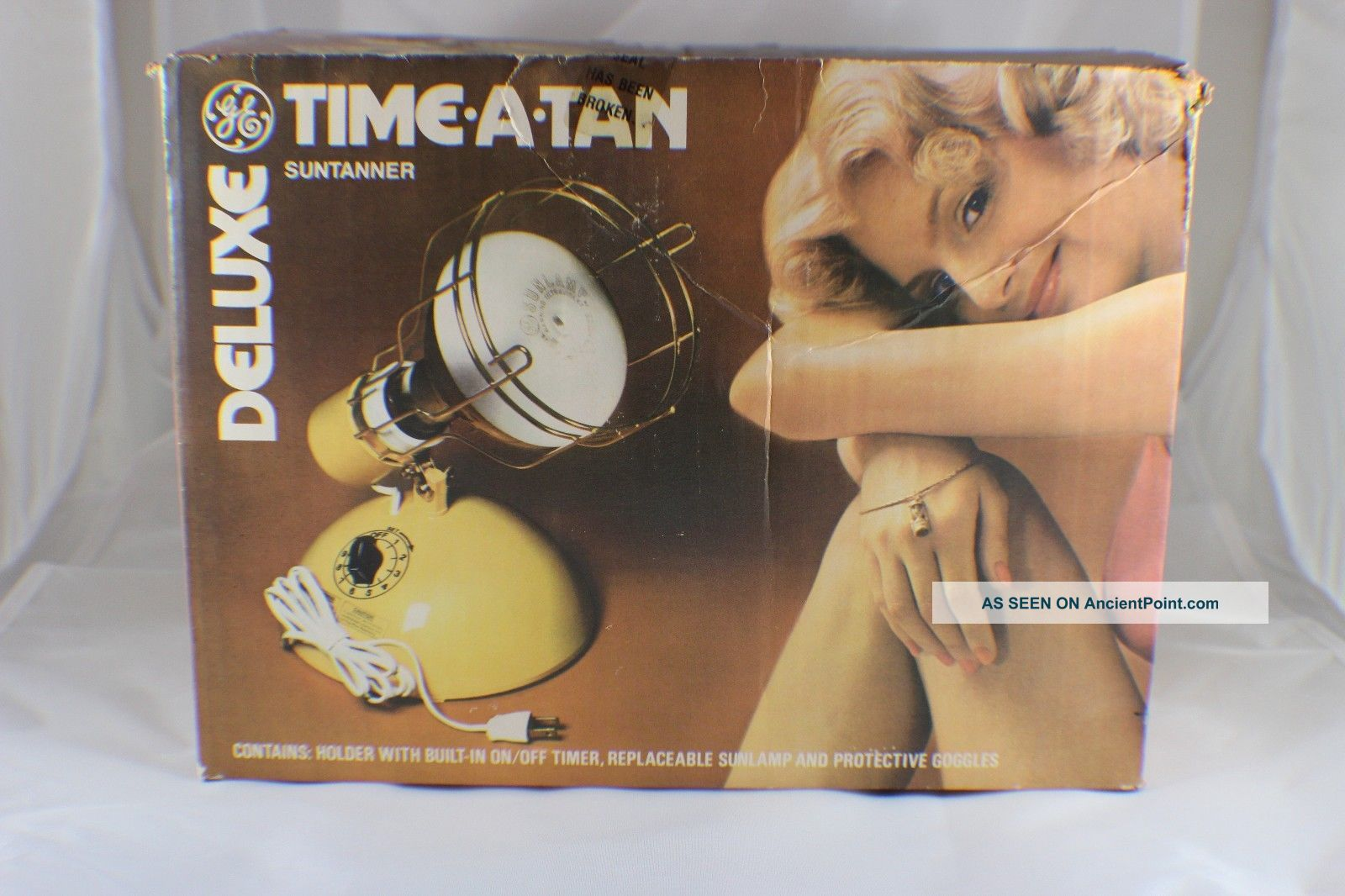 Vintage Ge Deluxe Time - A - Tan Sun Tanning Lamp W/ Bulb Great Other Antique Home & Hearth photo