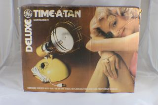 Vintage Ge Deluxe Time - A - Tan Sun Tanning Lamp W/ Bulb Great photo