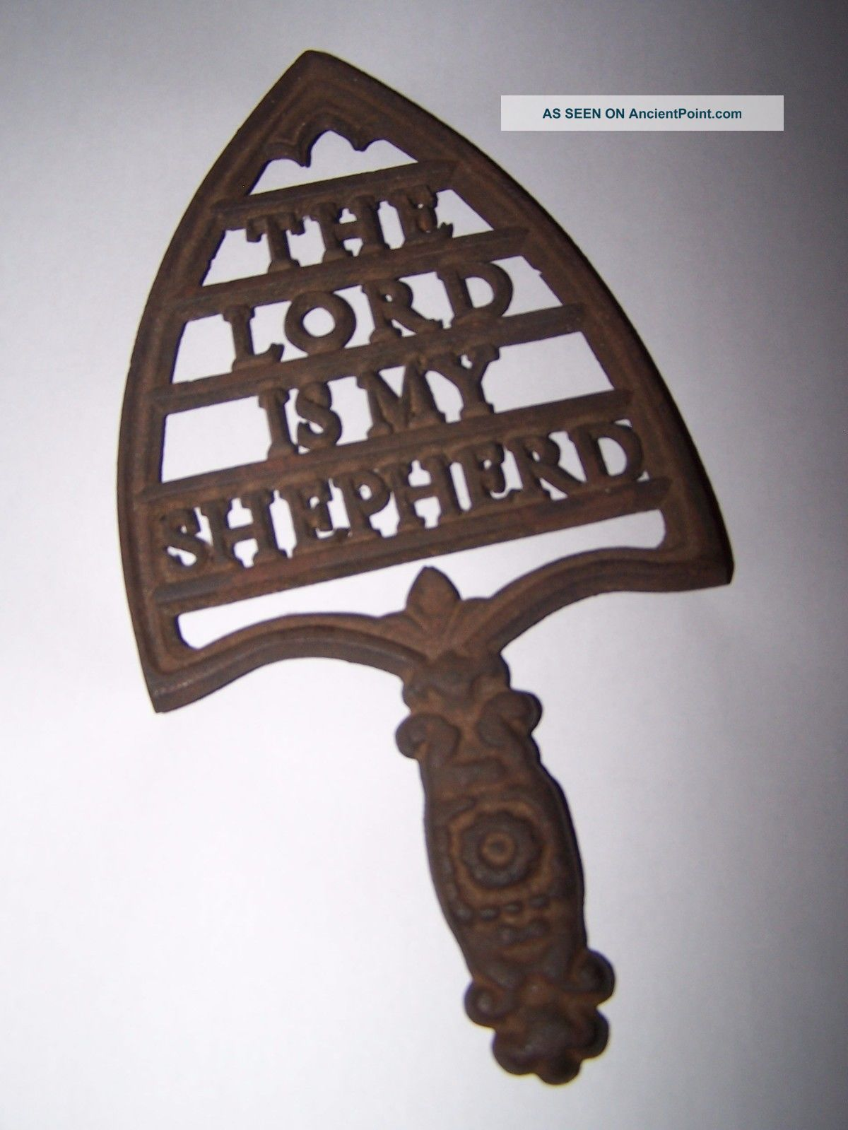 The Lord Is My Shepherd Trivet.  Cross Publ.  Co.  Elizabeth Nj Trivets photo