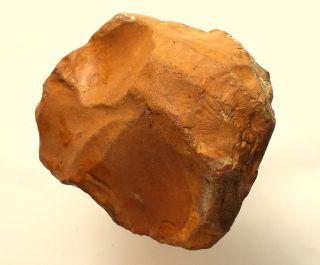 317 Gram Hand Axe Scraper Neanderthal Paleolithic Tool photo
