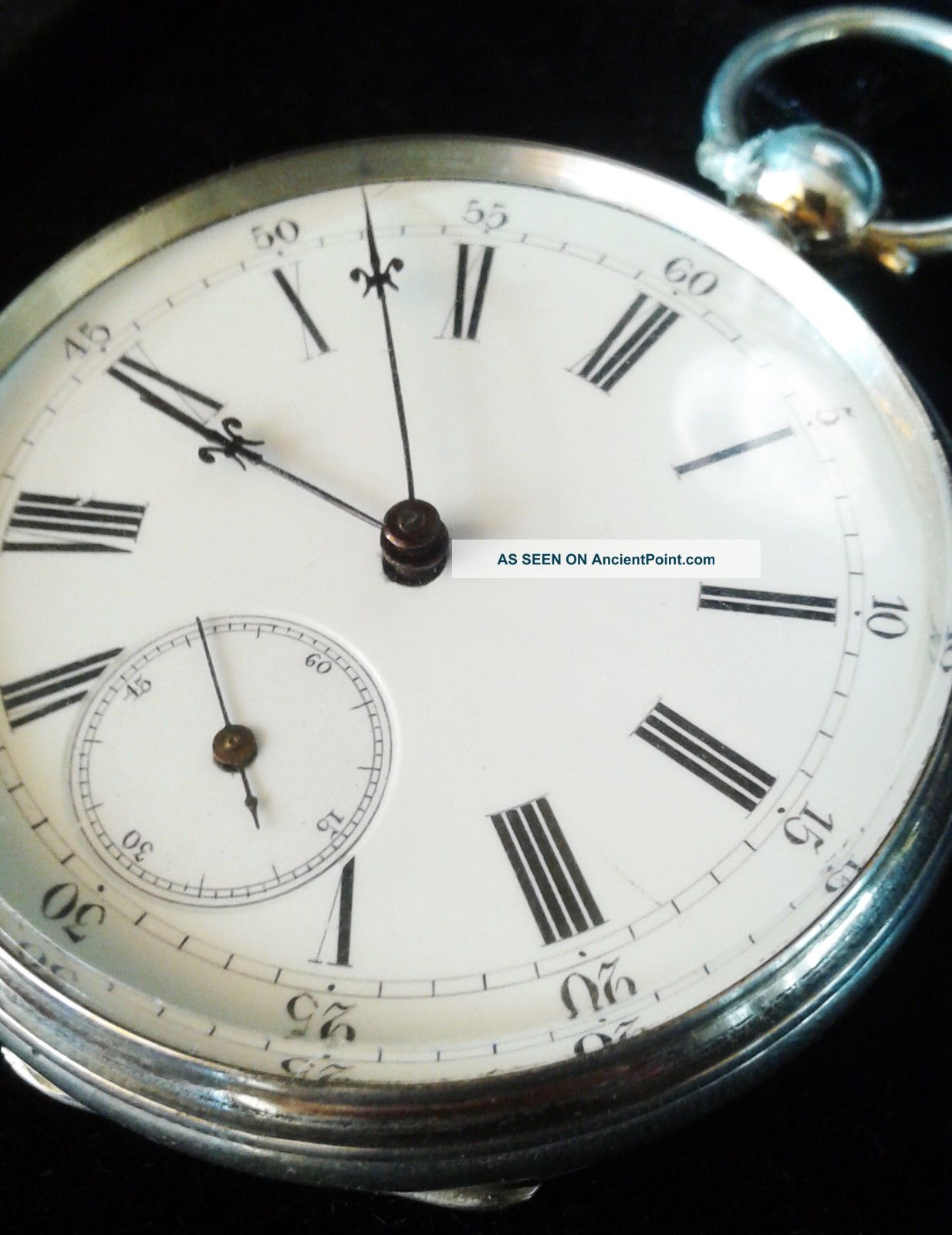 Vintage Swiss Pocket Watch Key Wind Work Clocks photo