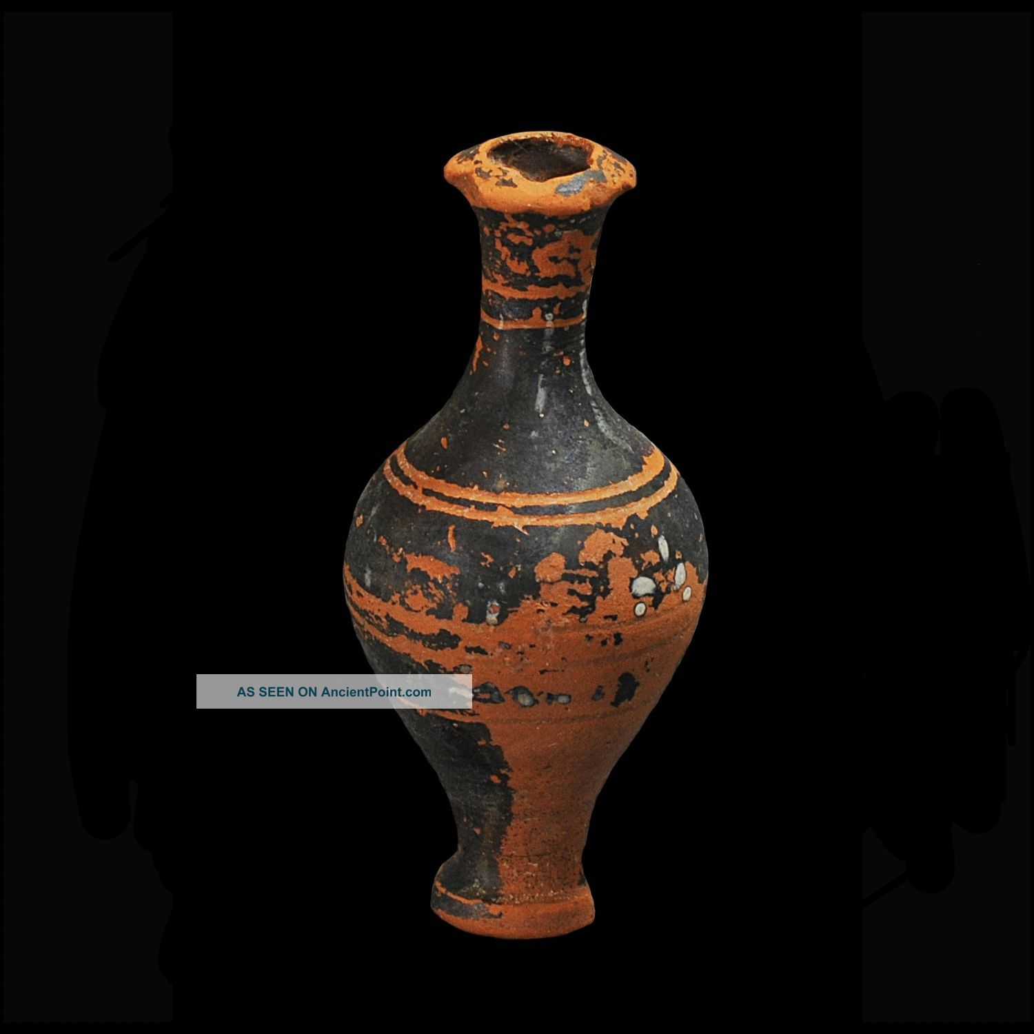Aphrodite - Ancient Greek Decorated Priform Pottery Flask Greek photo