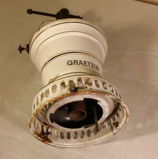 Graetzin Enamel Gas Lamp Germany,  Gas Mantle Light,  Gaslampe photo