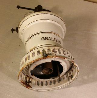 Graetzin Enamel Gas Lamp Germany,  Gas Mantle Light,  Gaslampe photo
