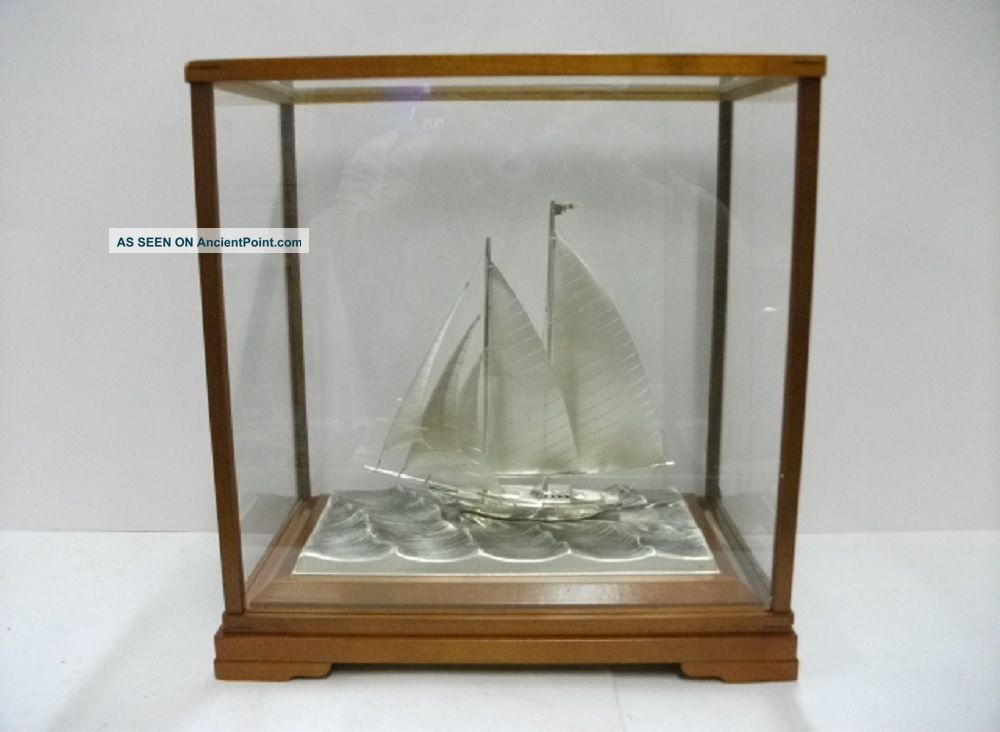The Sailboat Of Silver985 Of Japan.  2masts.  129g/ 4.  54oz.  Takehiko ' S Work. Other Antique Sterling Silver photo