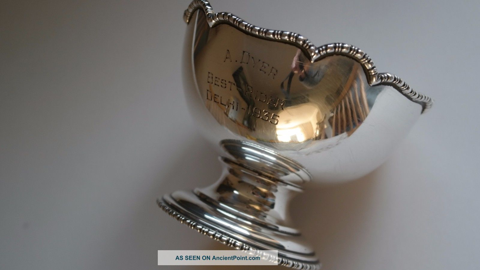Silver Trophy Cup - Cooke & Kelvey - India Other Antique Sterling Silver photo