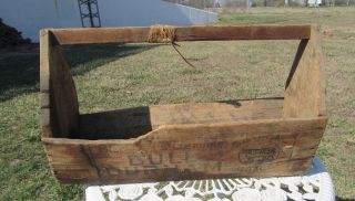 Antique Wood Carpenter ' S Tool Box - - Made Out Of
