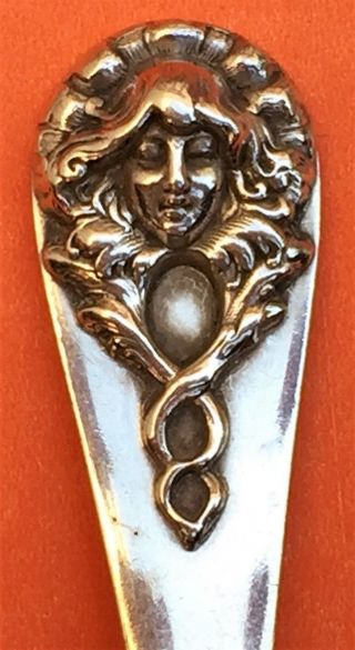 Art Nuevo Lady Coffeyville Kansas Sterling Silver Souvenir Spoon photo