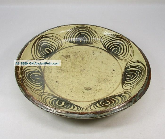 A633: Real Japanese Old Seto Pottery Plate Of Very Popular Uma - No - Me - Zara Plates photo