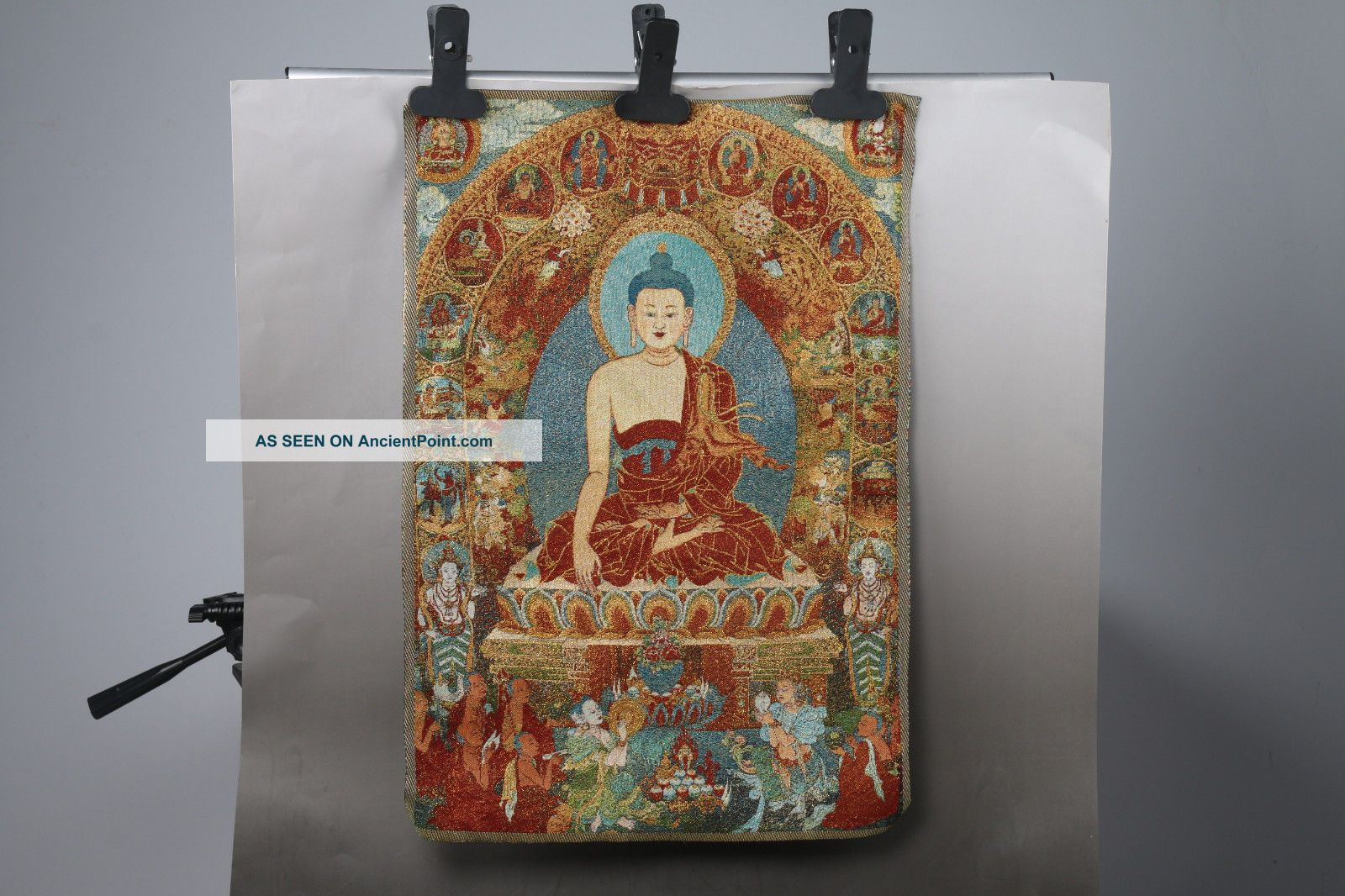 Tibet Silk Hand Painted Buddhism Painting Thangka H648 Paintings & Scrolls photo