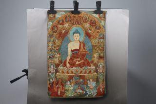 Tibet Silk Hand Painted Buddhism Painting Thangka H648 photo
