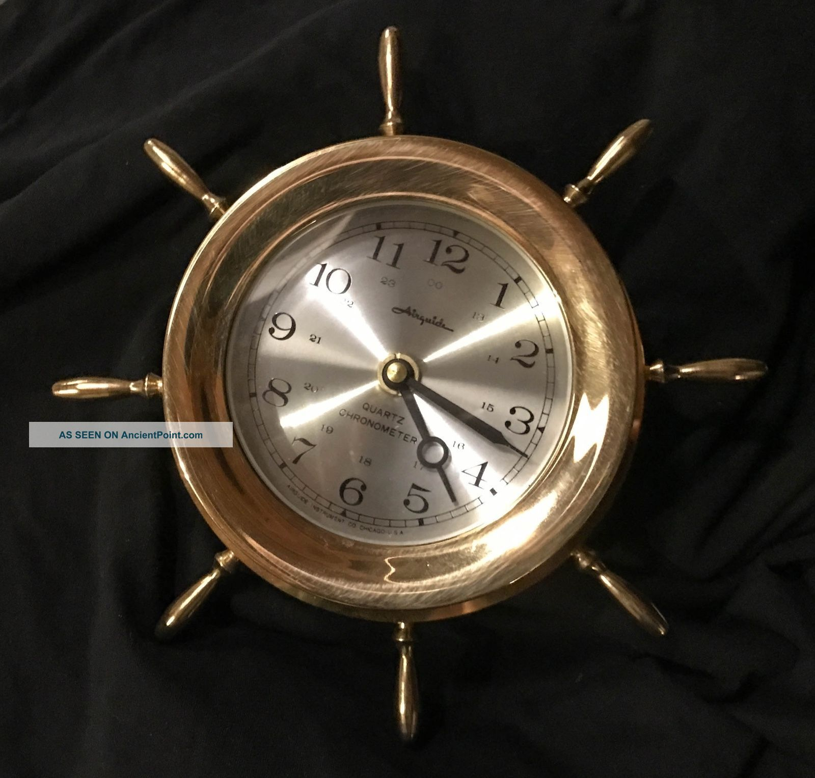 Vintage Airguide Nautical Quartz Chromometer Clocks photo