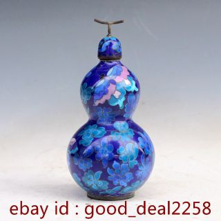 The Fine Cloisonne Gourd Shape Jar 249 photo