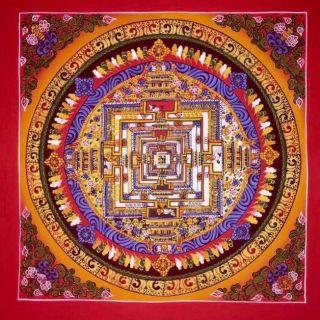 Handpainted Tibetan Chinese Mandala Thangka Painting Meditation A1166 photo