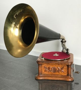 Hmv / G&t Horn Wind - Up Gramophone / Phonograph 78 Rpm Exquisite photo